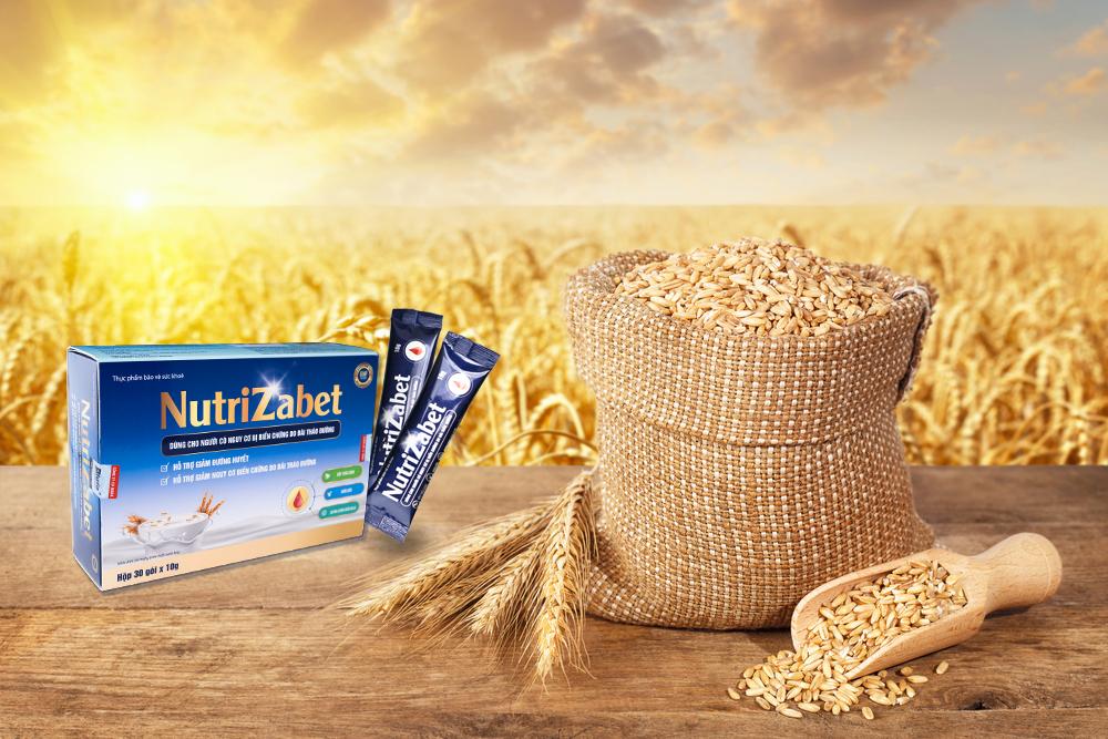 Ngũ cốc tiểu đường Nutrizabet có chứa các loại ngũ cốc tốt cho bệnh nhân tiểu đường