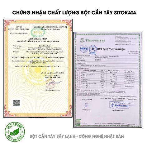 Bột cần tây Sitokata có nguồn gốc xuất xứ rõ ràng, đã được kiểm định và cấp phép