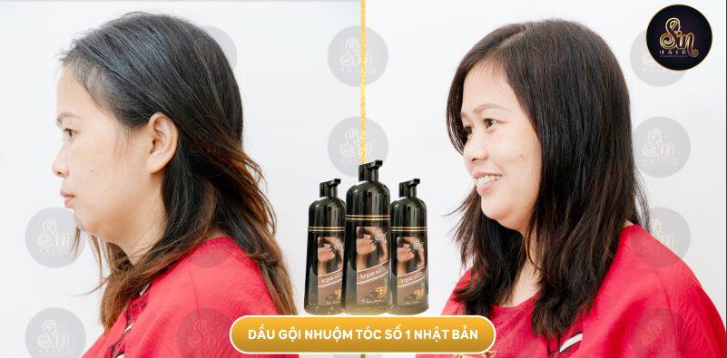 Dầu gội Sin Hair giúp làm đen và phục hồi tóc nhanh chóng