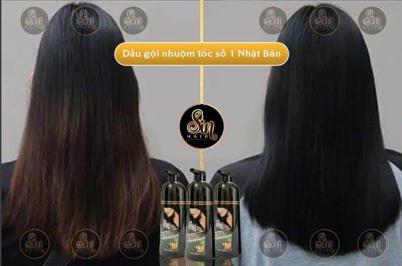 Hiệu quả phục hồi tóc hư tổn trước và sau