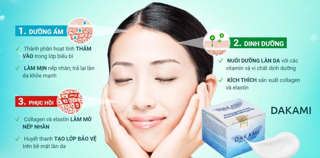 Kem Dakami có tác dụng gì cho da