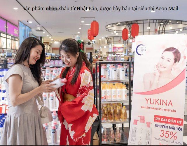Sữa tắm trắng da Yukina có nguồn gốc xuất xứ từ Nhật Bản