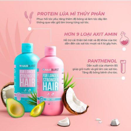 Thành phần thiên nhiên có trong dầu gội Hairburst