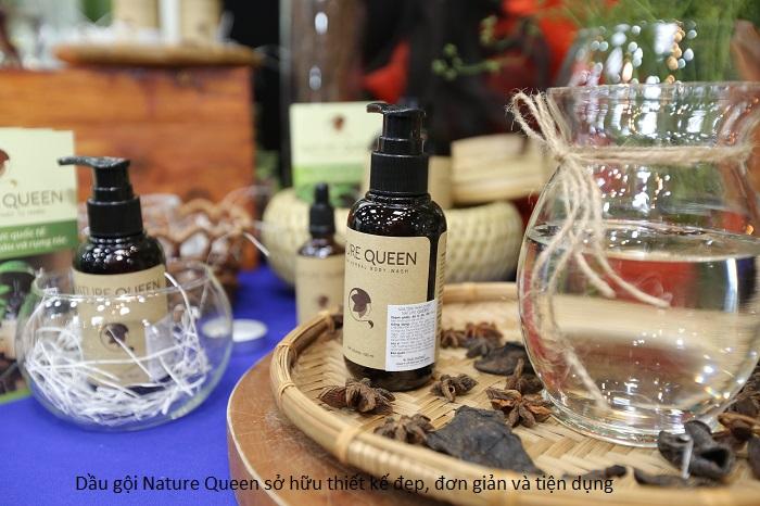 Thiết kế của sản phẩm Queen Nature có vòi pump tiện lợi