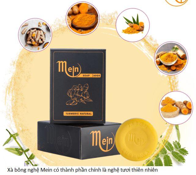Xà bông nghệ Mein có thành phần nguyên liệu thiên nhiên